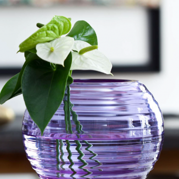 Vase parme / Purple vase