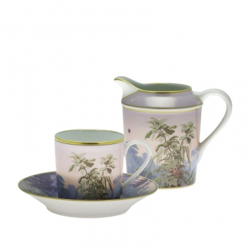 SET OF 4 COFFEE CUP/SAUCER CYL