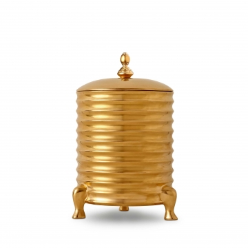 Canister Candle with Lid - 3-Wick - Gold