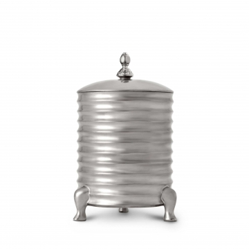 Canister Candle with Lid - 3-Wick - Platinum
