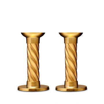 Candlesticks - Small (Set of 2)- Gold