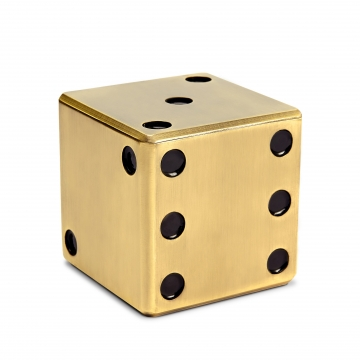 Dice Decorative Box_Gold