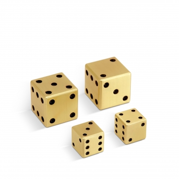 2 Pairs Gold Dice