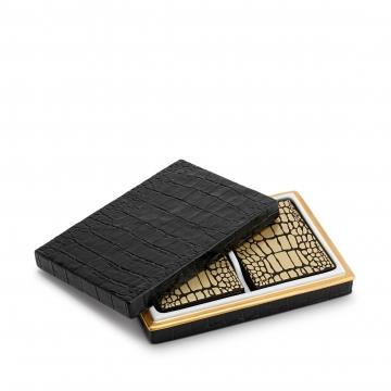 Crocodile Box with Playing Cards (Two Decks)