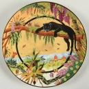 PANTHERE NOIRE DESSERT PLATE SET OF 4